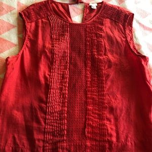 J. Crew red sleeveless top with tie back